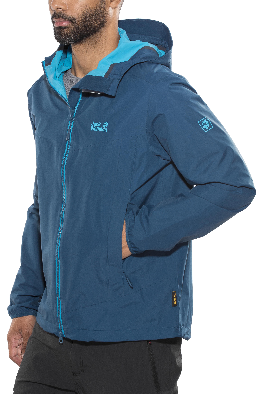 sneakers for cheap 92c36 3be6c Jack Wolfskin Colourburst Jacket Men poseidon blue